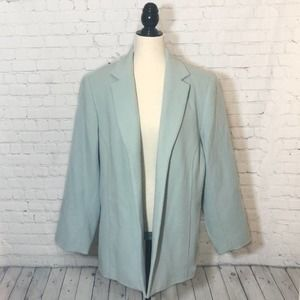 Dialogue Tiffany Blue Boiled Wool Cocoon Coat